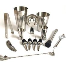 Premium Shaker Barware Set-13 Stücke Barkeeper Kit Enthält shaker, rack, löffel, ausgießer, stroh & ice tong Cocktail Shaker