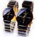 Marca de luxo longbo cerâmica resistente à água relógio de pulso das mulheres, frete grátis qualidade cerâmica strass relógios das mulheres de aço 8493