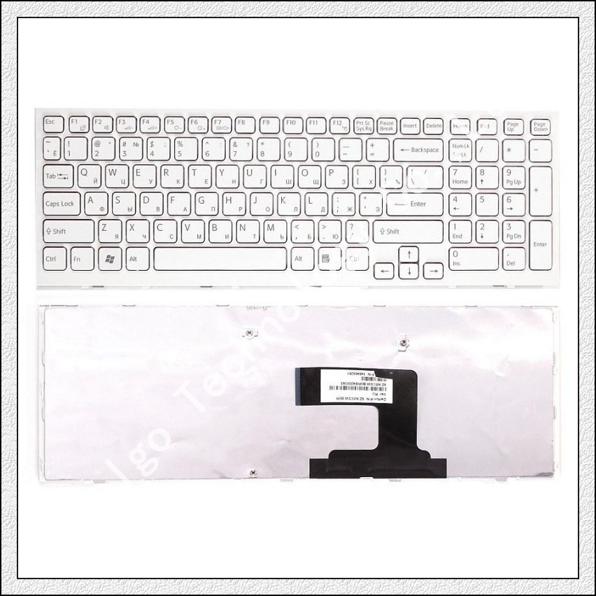Russian Keyboard for Sony Vaio VPC-EL VPCEL VPC EL PCG-71C11L PCG-71C12L EL111T EL112T EL15EC VPC-EL111T PCG-71C11T RU WHITE brand new laptop keyboards for sony vpc el russian ru language keyboards with frame