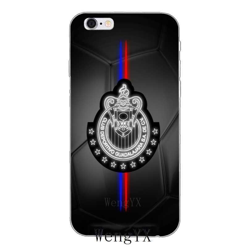 Чивас Гвадалахары logo тонкий мягкий силиконовый чехол для телефона для iPhone 4 4S 5 5S 5c SE 6 6s плюс 7 7 plus 8 8 plus X