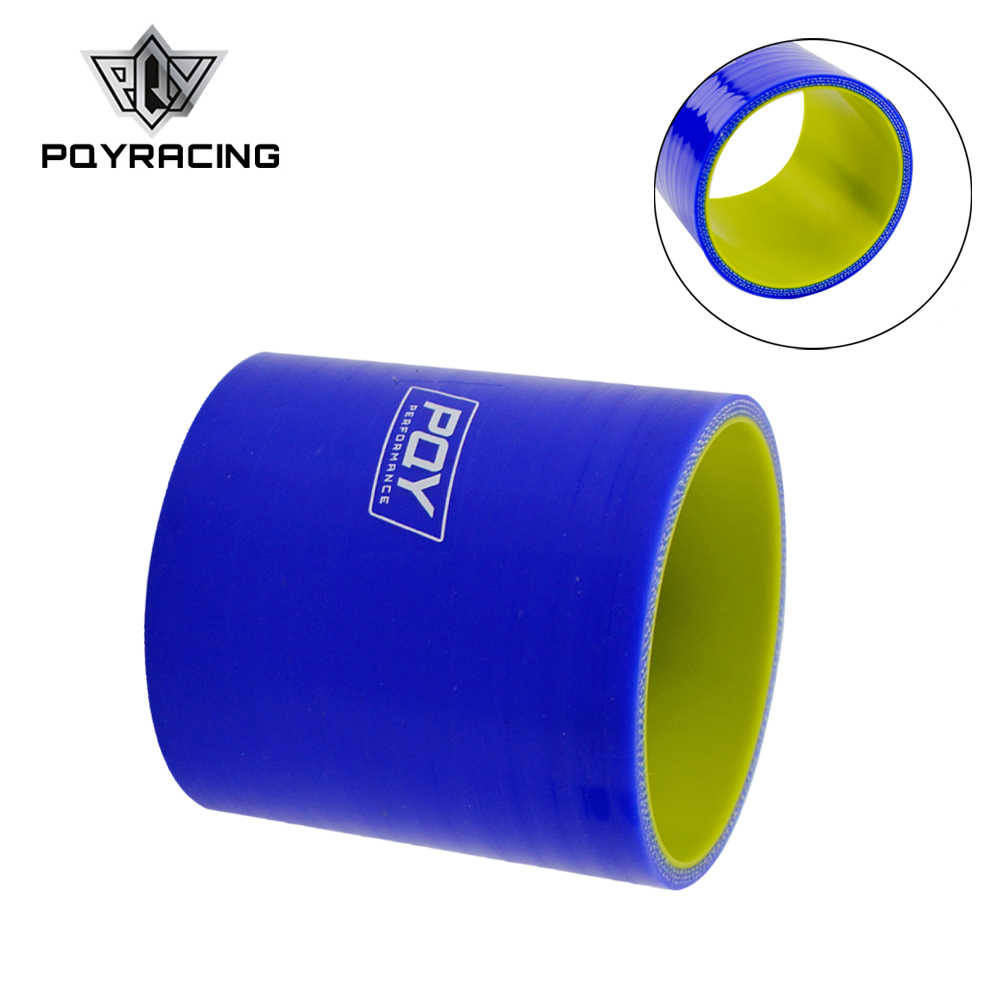 "PQY - Blue&yellow 3.0"" 76mm Straight Silicone Intercooler Turbo Intake Pipe Coupler Hose PQY-SH0030-QY"