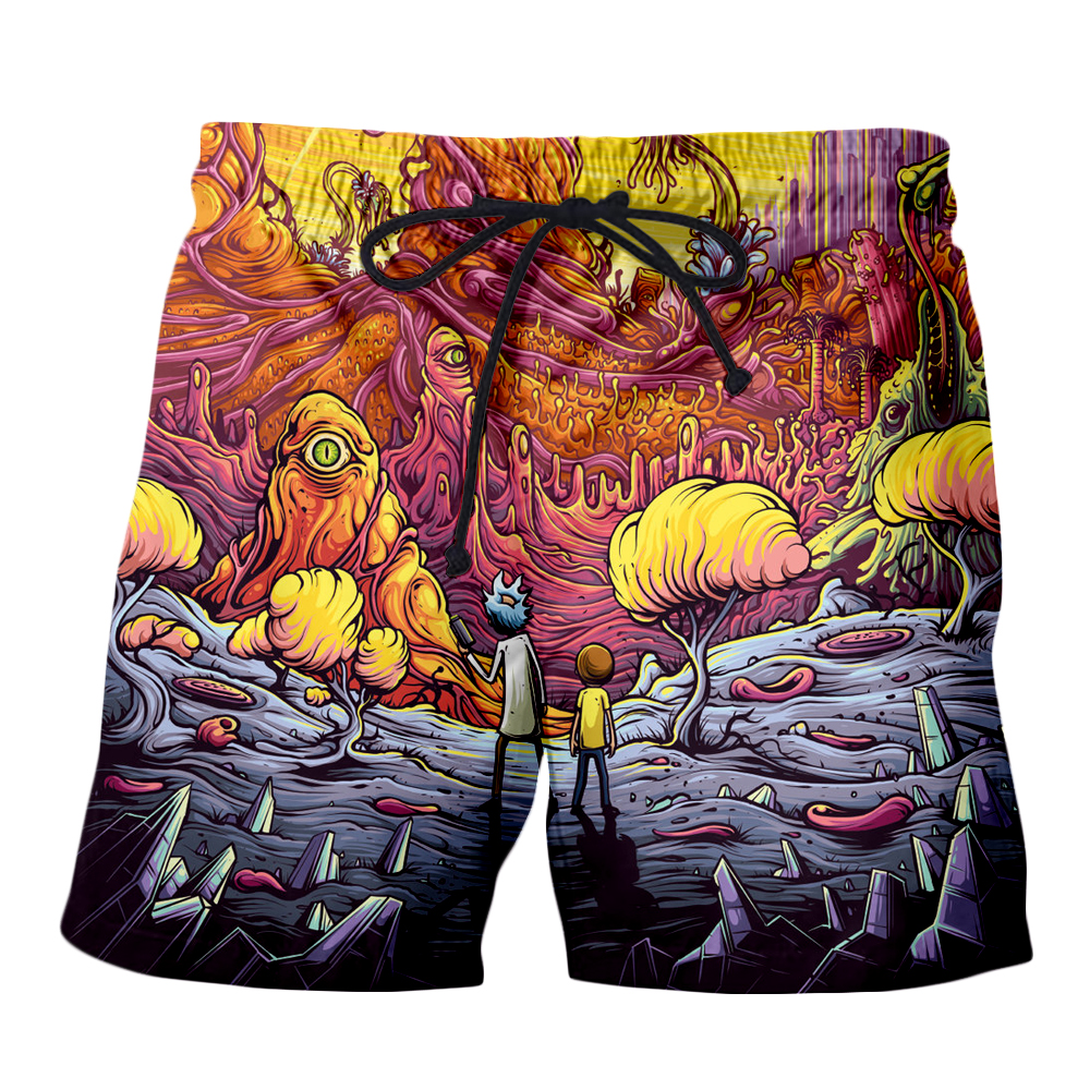 PLstar Cosmos Drop shipping 2018 summer Fashion Mens 3d shorts Cartoon Rick and Morty printing Male Female Casual shorts in Casual Shorts from Men 39 s Clothing