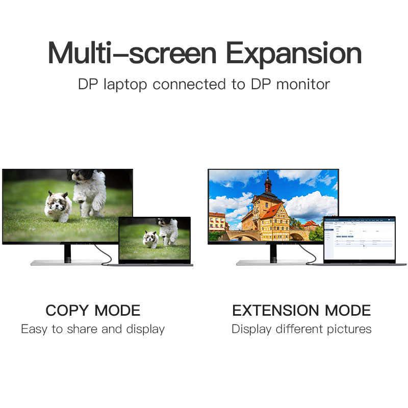 Vention ديسبلايبورت كابل DP إلى DP كابل الكمبيوتر محول التلفزيون عرض ميناء موصل للكمبيوتر ماك بوك HDTV العارض 4K 60Hz