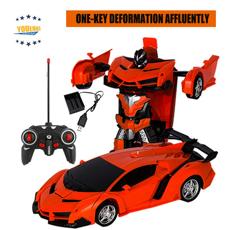 Image 3 - Transformer Car Robots Deformation Robot Remote Control Car with One Button Automatic Operation Realistic Engine Sounds-in RC Cars from Toys & Hobbies