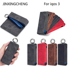 JINXINGCHENG Leather Case for IQOS 3.0  3 Wallet Protective Carrying Cover Bag Accessories