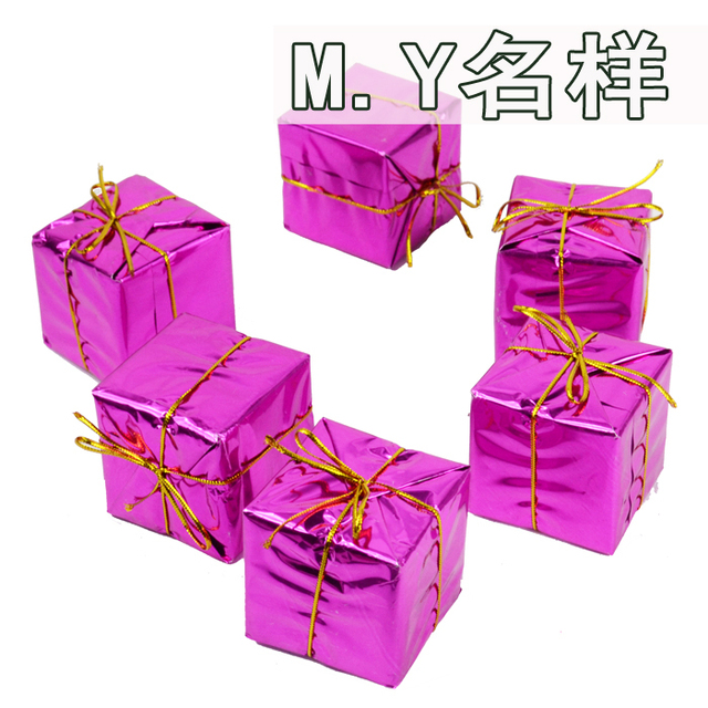 Supply 6 pcs New arrival Christmas hanging  Decoration mini peach christmas box