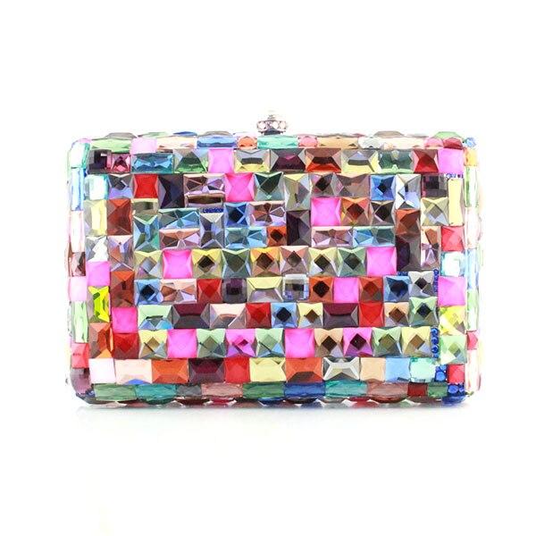 Clutch Multi Big Crystal Luxury Women Clutch Bag Ladies Rhinestone Party Bag Fashion Crystal Purse(1016-HC) clutch adriana muti clutch