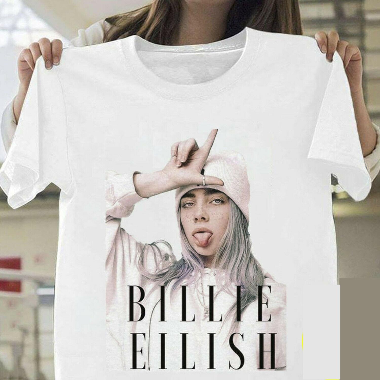Billie Eilish   T     Shirt   Billie Eilish Fans White Cotton Men S-3XL Supplier Hot Selling 100 % Cotton   T  -  Shirts   Top Tee Plus Size