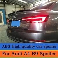 For Audi A4 B9 2017 2018 Spoiler Rear Trunk Spoiler wings 4 door Sedan Boot Tail Lip Spoiler Car Styling High quality ABS