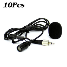 10PCS 3 5mm Mini Tie on Condenser Microphone Lapel Lavalier Clip Mic For Lecture Teaching Conference