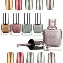 Hot 1PCS 10ML Colors Magic Mirror Chrome Nail Polish Metallic Mirror Effect varnishes Shining DIY Manicure Art &Tools