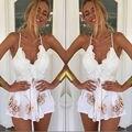 Das Senhoras Das mulheres Festa Bodycon Jumpsuit & Romper Calças Clubwear V Playsuit Pescoço