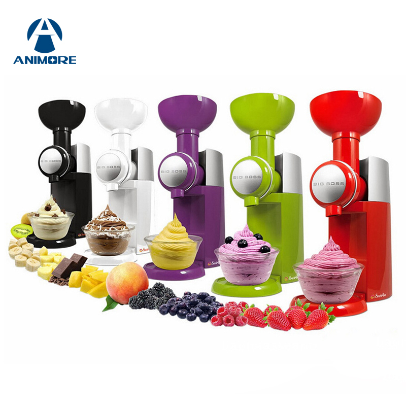 ANIMORE 220V /110V Automatic Frozen Fruit Dessert Machine Fruit Ice Cream Machine Big Ice Cream Maker Milkshake Machine IC-01 free shiping fried ice cream machine 75 35cm big pan with 5 buckets fried ice machine r22 ice pan machine ice cream machine
