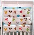 Promoción! gatito Mickey 62 * 52 de almacenamiento bebé con cambiador para bebés bolsa dirty cloth organizador para cuna, sistema del lecho del bebé