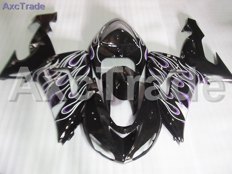 Moto Motorcycle Fairing Kit For Kawasaki Ninja ZX10R ZX-10R 2006 2007 06 07 ABS Plastic Fairings fairing-kit Black C481 black moto fairing kit for kawasaki ninja zx14r zx 14r zz r1400 zzr1400 2006 2007 2008 2009 2010 2011 fairings custom made c549