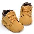 2016 Primavera/Otoño Bebé Infantil Suave Suela Pu Primeros Caminante Zapatos del Pesebre 0-18 Meses
