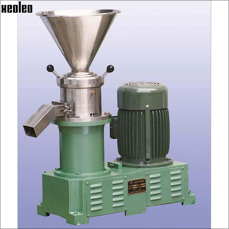 Xeoleo Sesame Butter maker 4000W Peanut butter machine Commercial butter Grinder Walnuts/almonds Nut Grinding machine 380V CE colloid mill grinder peanut butter maker machine sesame paste grinder nut butter making machine