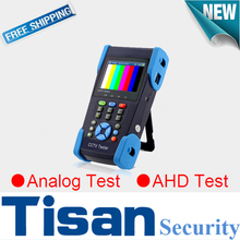 3.5 inch AHD Analog in one security CCTV tester monitor with PTZ control, Color bar generator,UTP cable test