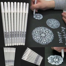 Белый маркер, ручка для рисования, художественные канцелярские принадлежности, белый маркер, ручка e20