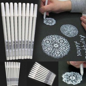 White Marker Pen Sketching Painting Pens Art Stationery Supplies white marker pen e20(China)