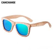 CANCHANGE 2017 New Fashion Woody Sunglass Men Glasses Brand Designer Full Frame Polarized Oculos Unisex For Fishing Accessories