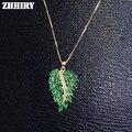 Natural Emerald Gem Collar Colgante de Piedra Auténtica Plata de Ley 925 Mujeres Joyería de Piedras Finas