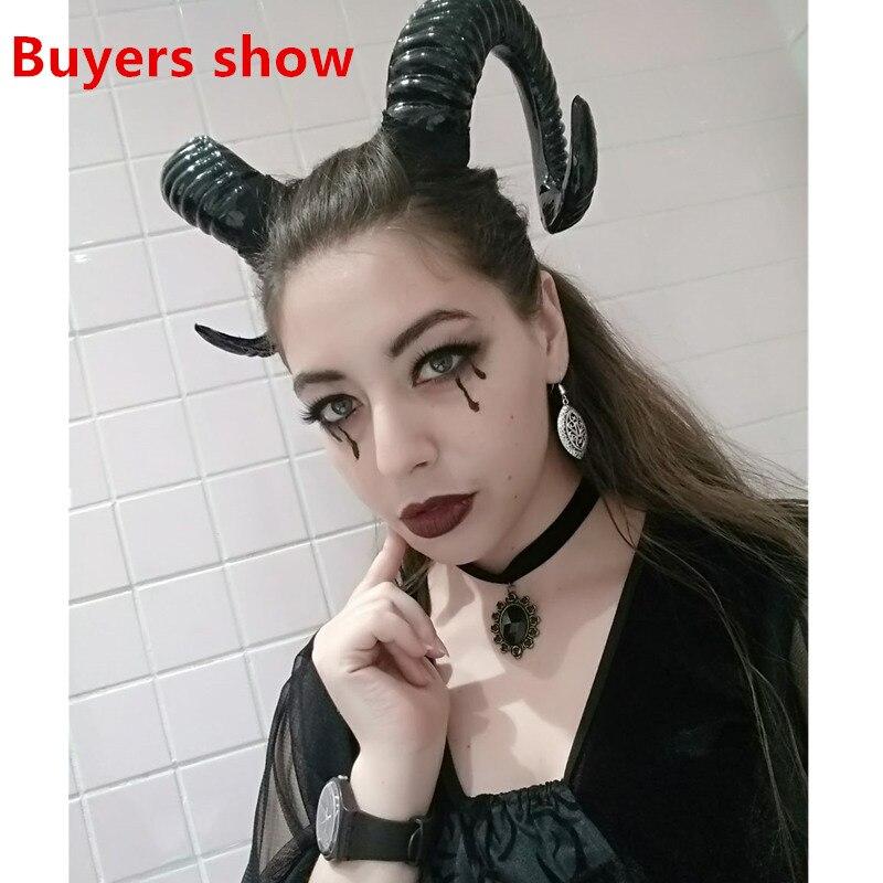 Demon Evil Horn Cosplay Headwear Handmade Sheep Horns Gothic Lolita