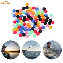 цена на 100pcs Round Mixed Color PE Plastic Stopper Beads for Carp Fishing Rig Fishing Beads Fishing Lures Fish Tackle Iscas Accessories
