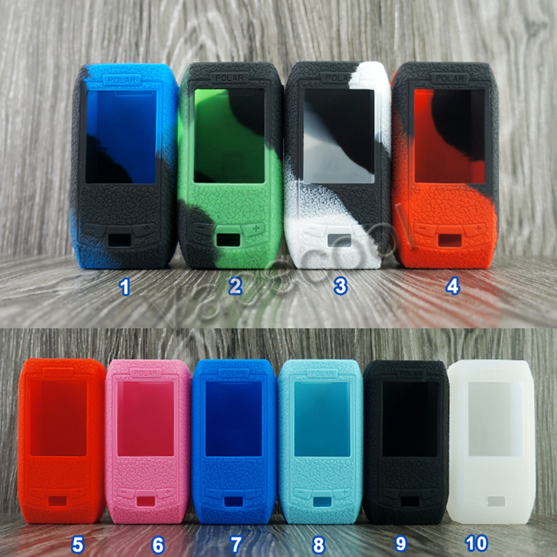 5pcs Texture Case Skin for Vape Vaporesso polar 220W Box mod Shiled Silicone Cover Warp Sticker Sleeve gel in Cases from Consumer Electronics