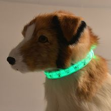 Pet LED Collar Puppy led Necklace Night Safety Glow Flashing Dog Cat Collars 2.0 width XS led collar for small pets