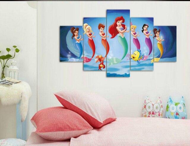 Framed Printed Mermaid Painting wall art children room decor print ...