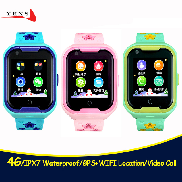 bf7855f47224 4G IPX7 Waterproof Smart Remote Camera GPS WI-FI Kids Children Students  Wristwatch SOS Video Call Monitor Tracker Location Watch