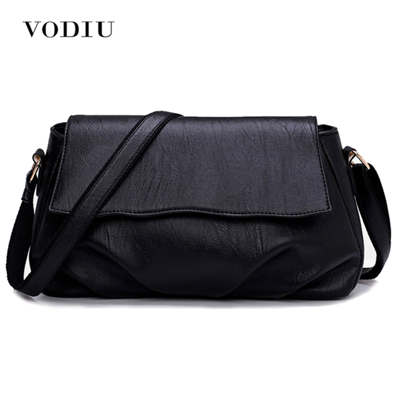 Women Bags Leather Tote Over Shoulder Sling Messenger Crossbody High Quality Fashion Small 2017 Solid Black Female Handbags women shoulder bags leather handbags shell crossbody bag brand design small single messenger bolsa tote sweet fashion style