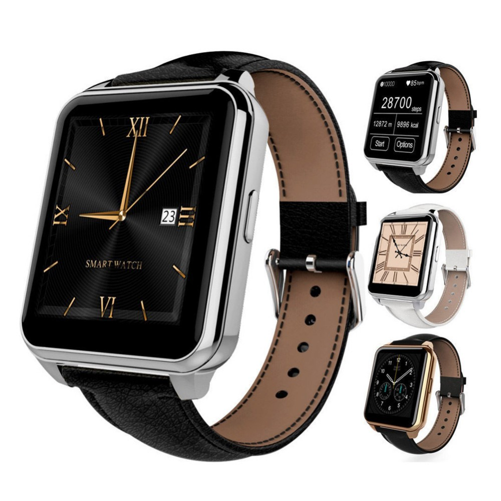 ФОТО Hot sale! Bluetooth sport Smart watches F2 with Heart Rate Monitor Fitness Tracker leather wristwatch IPS screen MTK2502 for IOS