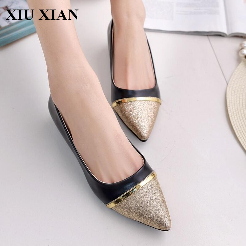 2017 Spring Women Flats Shoes Pointed Toe Slip on Flats Ladies Low Heel Leisure Flats Rubber Female Loafers Sexy Boat Shoe Black spring summer women leather flat shoes 2017 sweet bowtie flats women shoes pointed toe slip on ladies shoes low heel shoes pink