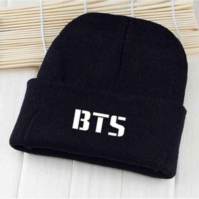 8d9223220ea JTVOVO casual brand hat unisex autumn winter BTS embroidery knitted beanie  hat women men cotton flexible warm cap hat wholesale
