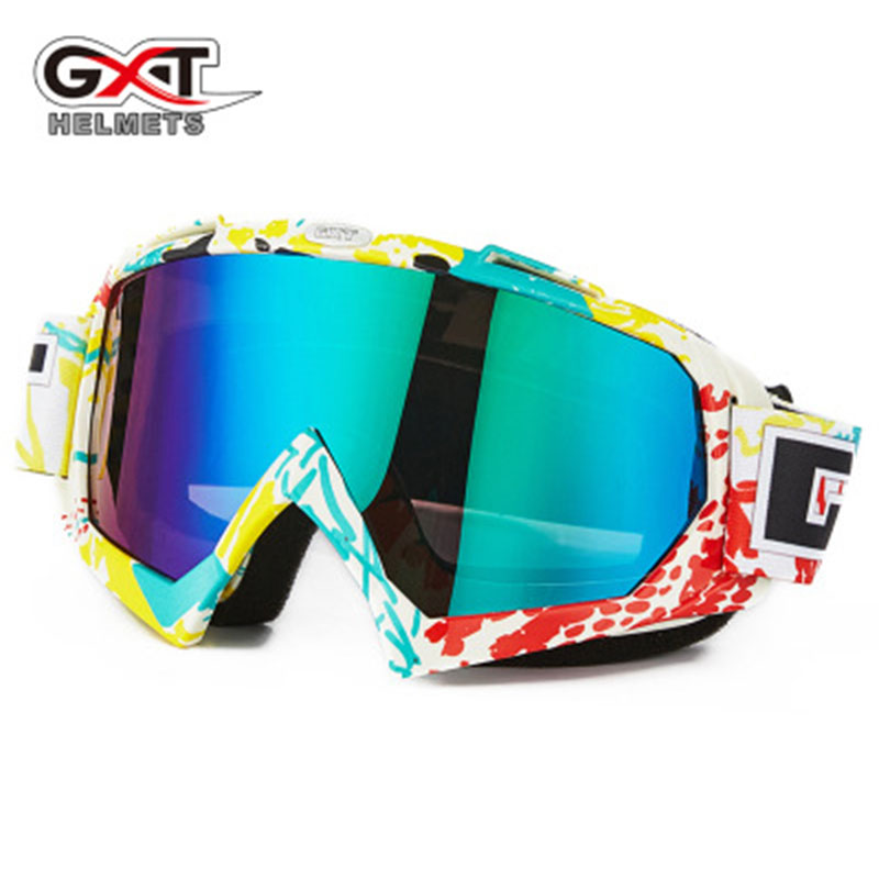 <font><b>GXT</b></font> motocross motorcycle goggles ATV MTB DH windproof glass for skiing <font><b>moto</b></font> cycling glasses glass <font><b>helmet</b></font> for cross-country bike image