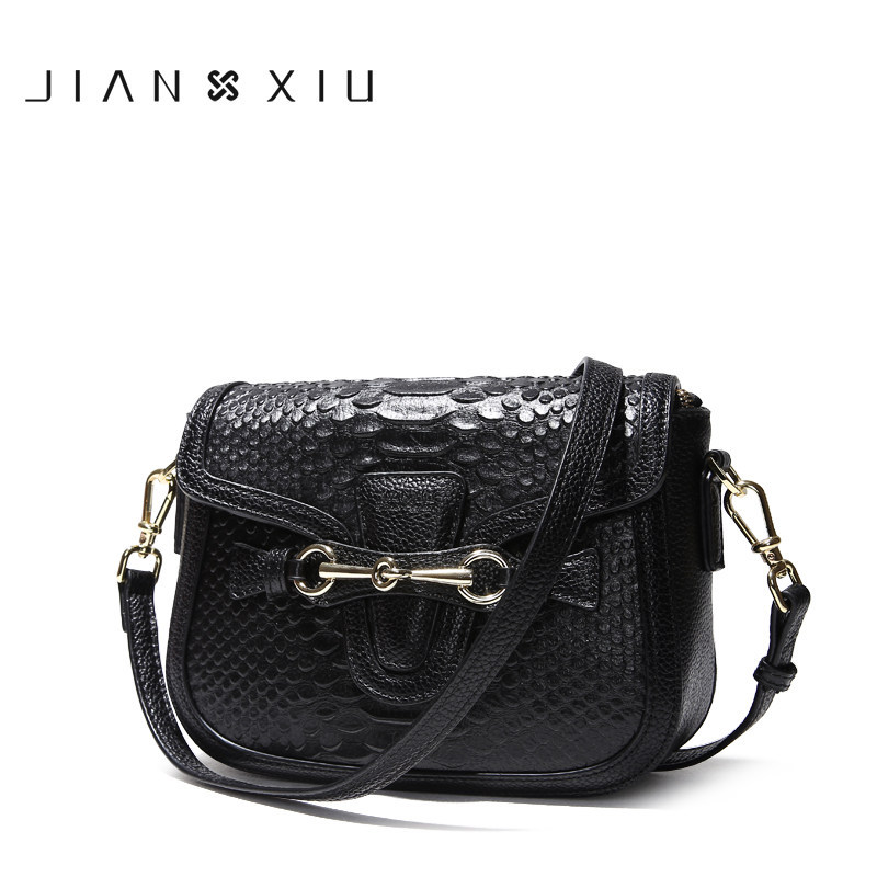 Jianxiu 2018 Ins New Popular Summer Genuine Leather Handbag Luxury Handbags Women Bags Ladies Handbag Shoulder Bag Snake Leather ladies genuine leather handbag 2018 luxury handbags women bags designer new leather handbags smile bag shoulder bag