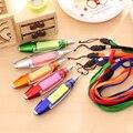 Lindo Kawaii Plástico Bolígrafo Creativo Bolígrafo Luz Con Bloc de notas Escuela Embroma Regalo Suministros Envío Libre 3307