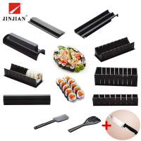 JINJIAN Multi Functional 11 Pieces High Quality DIY Roll Sushi Maker Rice Mold Kitchen Household Sushi