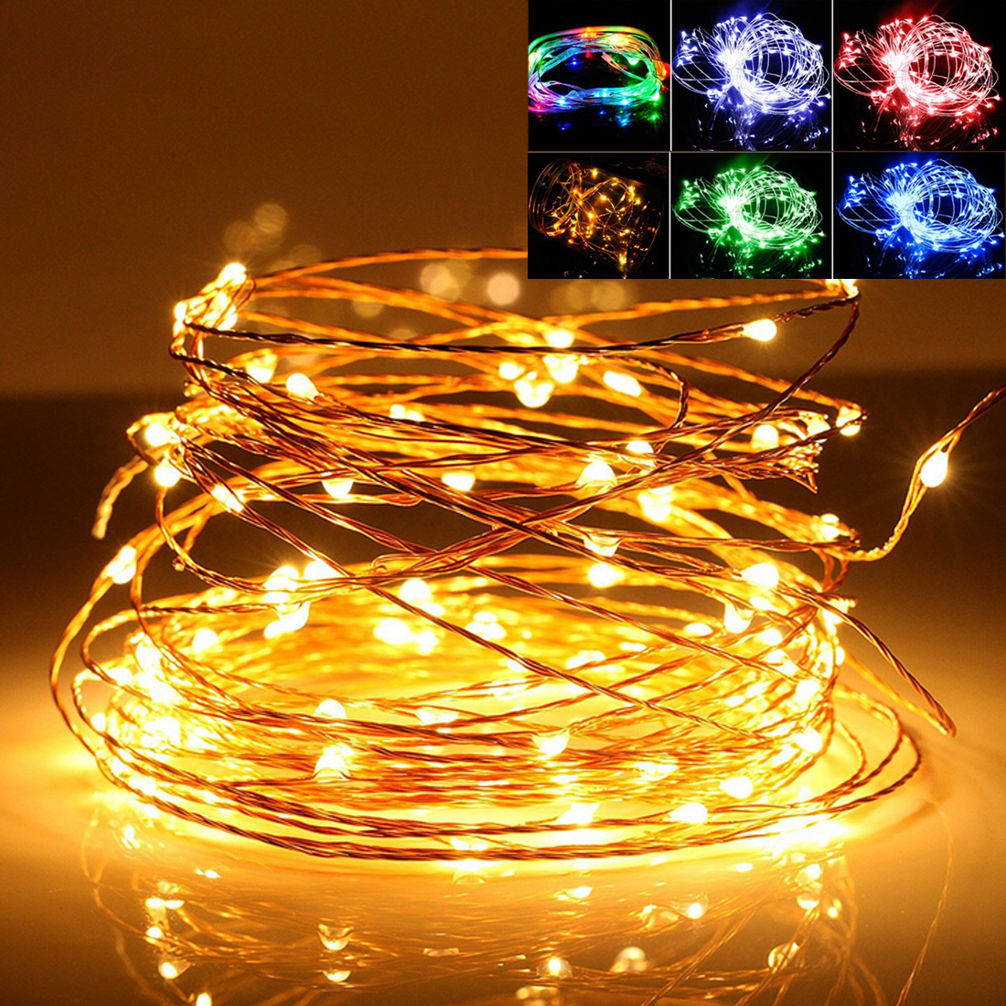 5M/10M Waterproof USB LED String Light LED Copper Wire String Holiday Outdoor Fairy Light For Christmas Party Wedding Decoration