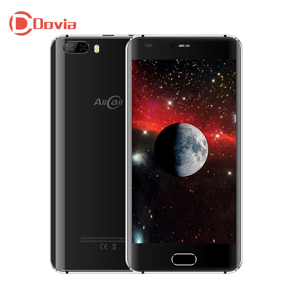 Allcall Rio Smartphone 5.0 Android 7.0 MTK6580A Quad Core 1.3GHz 1GB RAM 16GB ROM 8MP+2MP Dual Rear Cams 2700mAh Mobile Phone