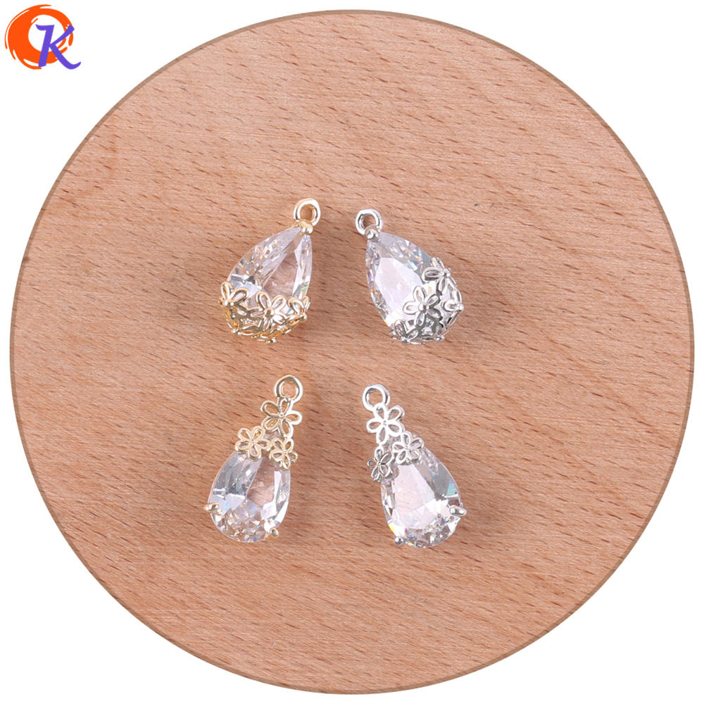 Cordial Design 50 pièces 9*18 MM accessoires de bijoux/pendentif en cristal/bijoux à breloques/fabrication de boucles d'oreilles/bricolage/fait à la main/trouvailles de boucles d'oreilles