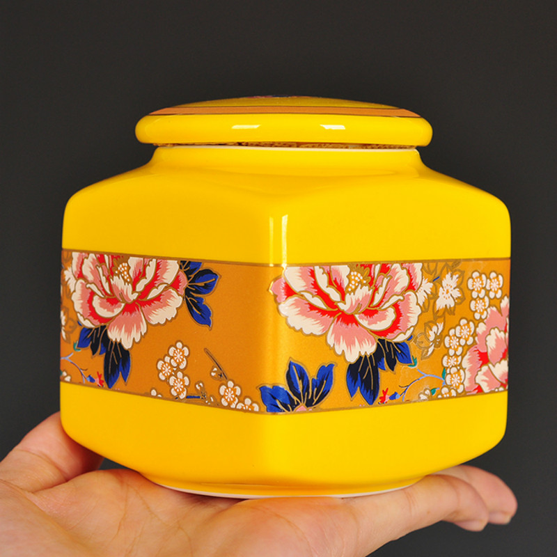 Chinese Classic Jingdezhen Ceramic Flower Pattern Small Tea Jar Portable Mini Decortion Vase Birthday Gift