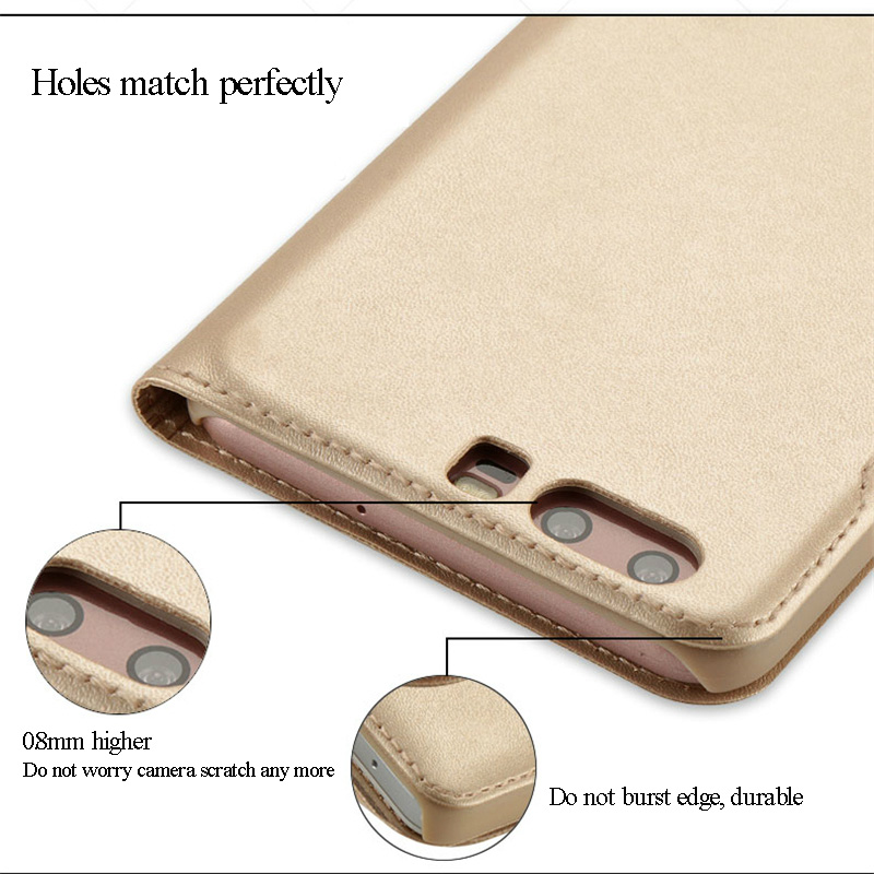 SHYPHIXV PU Flip Funda de cuero para Huawei P10 5.1 Inch Case con - Accesorios y repuestos para celulares - foto 3