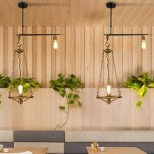 Barra de bronze Do Vintage pingente luzes de iluminação Industrial E27 Quarto Loft Restaurante bar sala de Jantar cozinha café luz do corredor