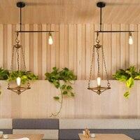Vintage Retro Bronze Industrial Hanging Pendant Lamp Lights E27 Master Bedroom Loft Dining Restaurant Bar Lounge