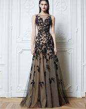free shipping 2013  Long Black Applique Evening Formal Prom Party Cocktail Dresses Wedding Gown