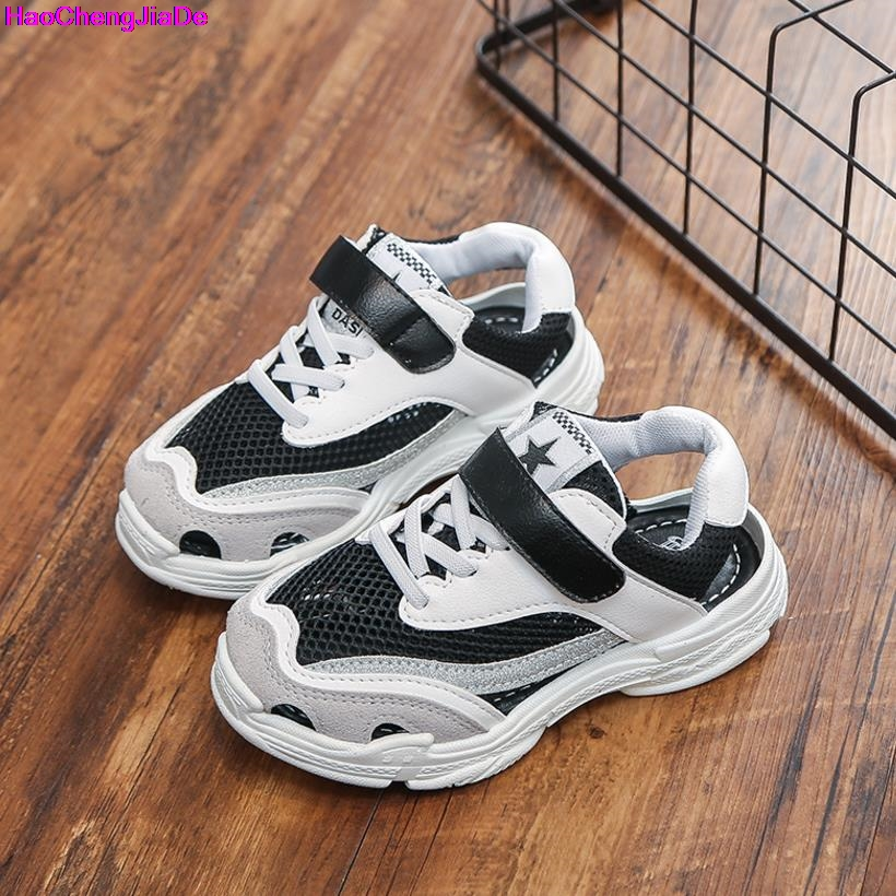 HaoChengJiaDe Children Shoes Girls Boys Casual Shoes Summer Fashion Breathable Mesh Kids sandals Shoes Boys Girls Soft Sneakers