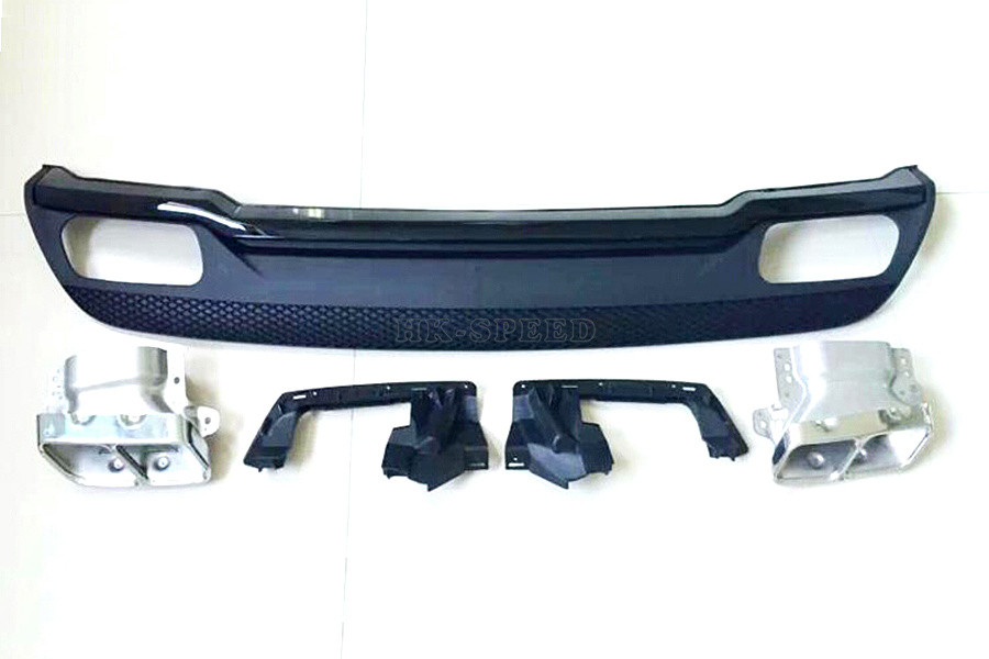 PP заднего бампера для губ Диффузор автомобиля глушитель выхлопной для Mercedes Benz- A260 к A45